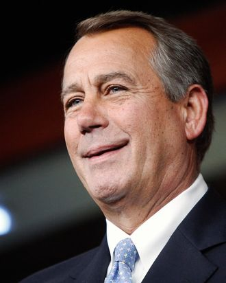 U.S. House Speaker John Boehner (R-OH) smiles during a news conference at the U.S. Capitol in Washingtn, June 20, 2013.
