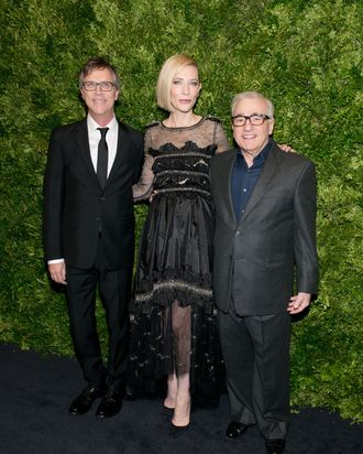 Todd Haynes and Cate Blanchett at the MoMA benefit.