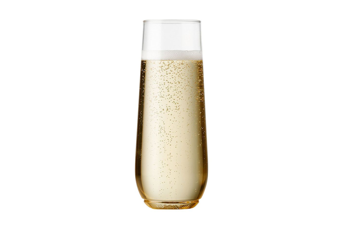 Tossware 9-ounce Flute, recyclable Champagne plastic cup. Set of 12.