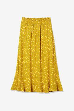 Goodthreads Women's Fluid Twill Pull-on Midi Skirt