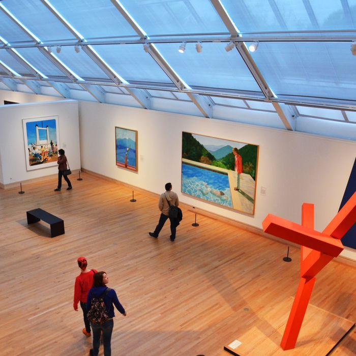 Contemporary art in Gallery 915 of the Metropolitan Museum of Art.
