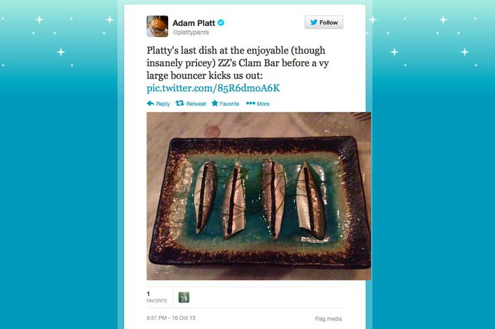 The sardines were the last thing he saw ...