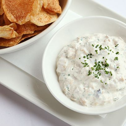 The Clam's dip comes loaded with cayenne, Worcestershire, sour cream, and actual chopped clams.