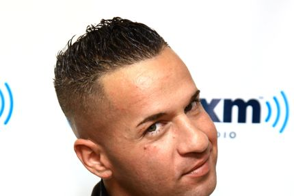 "Mike ""The Situation"" Sorrentino visits SiriusXM Studios on January 11, 2012 in New York City."