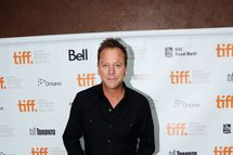 """TORONTO, ON - SEPTEMBER 11:  Actor Keifer Sutherland attends the premiere of """"I'm Yours"""" at the Isabel Bader Theatre during the 2011 Toronto International Film Festival on September 11, 2011 in Toronto, Canada.  (Photo by Aaron Harris/Getty Images)"""