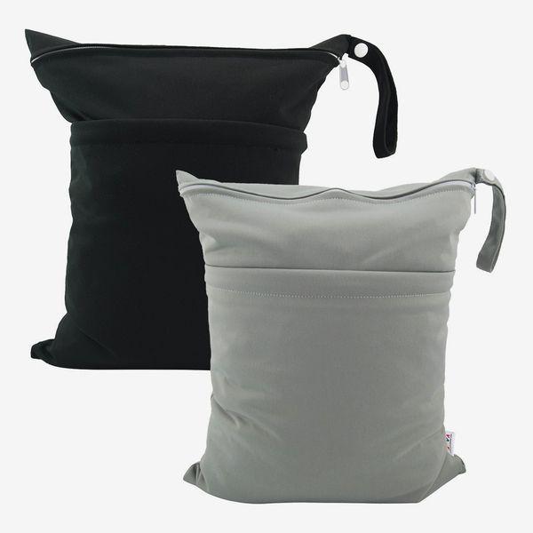 ALVABABY Cloth Diaper Wet Dry Bags (2 Pack)