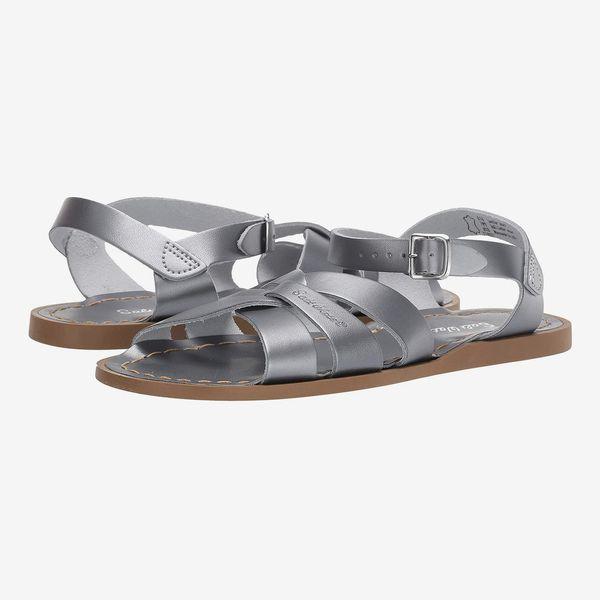 Salt Water Sandal by Hoy Shoes The Original Sandal (Pewter, Big Kid/Adult)