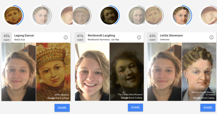 how to use google app to find art that looks like selfie
