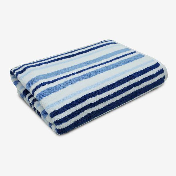 Charter Club Elite Cotton Tri-Stripe 30-by-56-inch Bath Towel