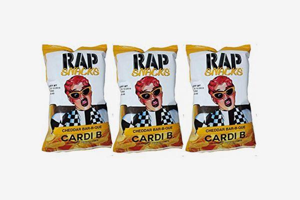Rap Snacks Cardi B Cheddar BBQ Potato Chips 2.75-oz. Bags (3-Pack)