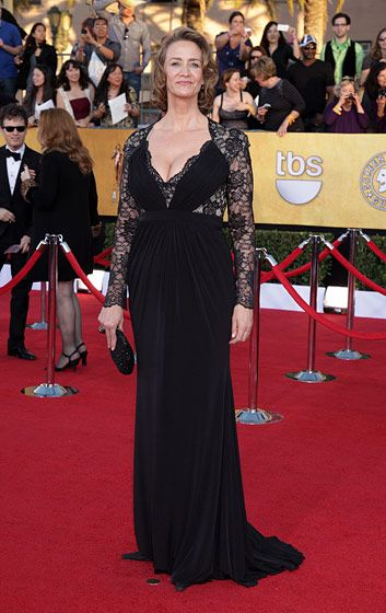Celebrities arriving at the Screen Actors Guild Awards 2012 held at the Shrine Auditorium in Los Angeles, CA. <P> Pictured: Janet McTeer <P><B>Ref: SPL355291  290112  </B><BR/> Picture by: Nate Beckett / Splash News<BR/> </P><P> <B>Splash News and Pictures</B><BR/> Los Angeles:310-821-2666<BR/> New York:212-619-2666<BR/> London:870-934-2666<BR/> photodesk@splashnews.com<BR/> </P>