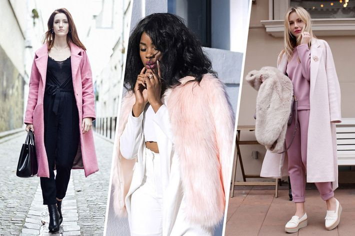 13 Ways to Wear a Pink Coat This Fall