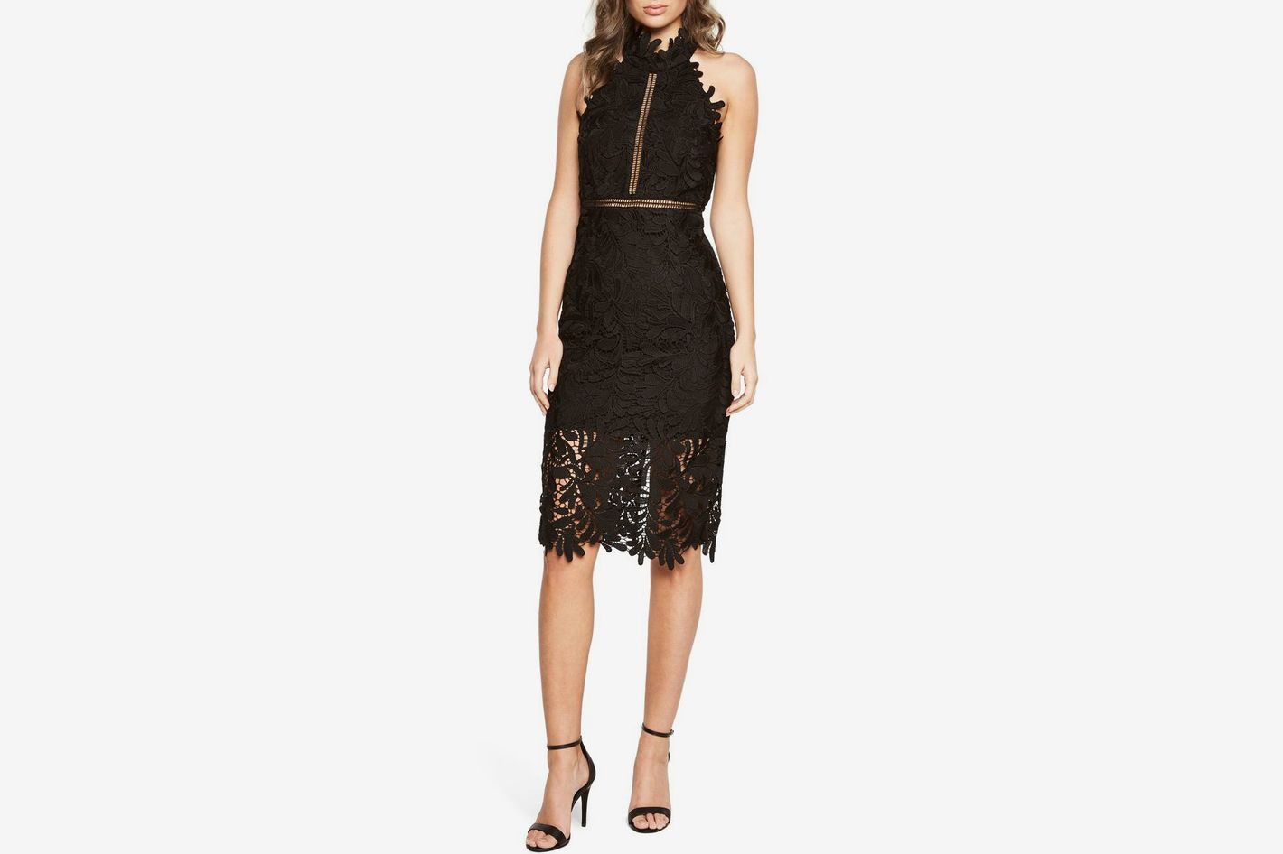 Bardot Kara Lace Halter Dress
