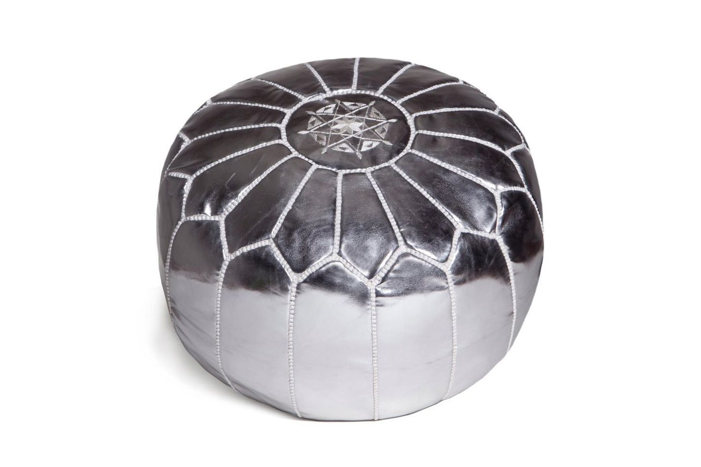 Moroccan Poufs Leather Luxury Ottoman