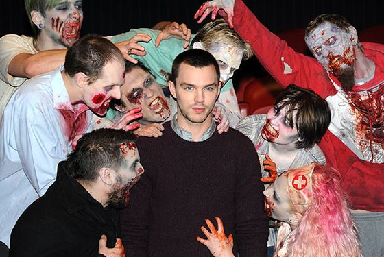 LONDON, UNITED KINGDOM - JANUARY 18: Nicholas Hoult attends the photocall for 'Warm Bodies' at Soho Hotel on January 18, 2013 in London, England. (Photo by Stuart Wilson/Getty Images)