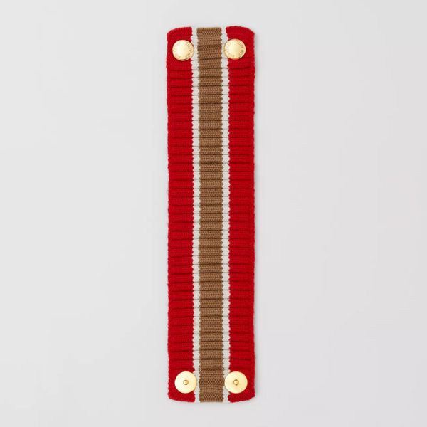 Burberry Rib-Knit Technical-Wool Collar