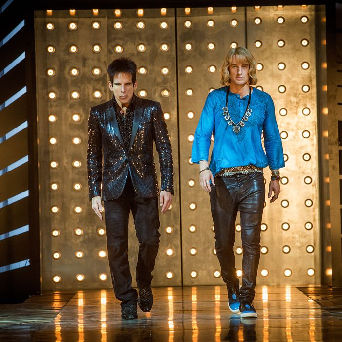 Left to right: Ben Stiller plays Derek Zoolander and Owen Wilson plays Hansel in Zoolander 2 from Paramount Pictures.