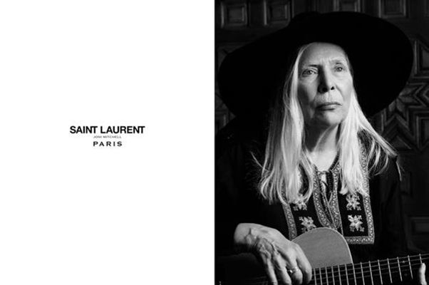Joni Mitchell Strums Some Chords For Saint Laurent