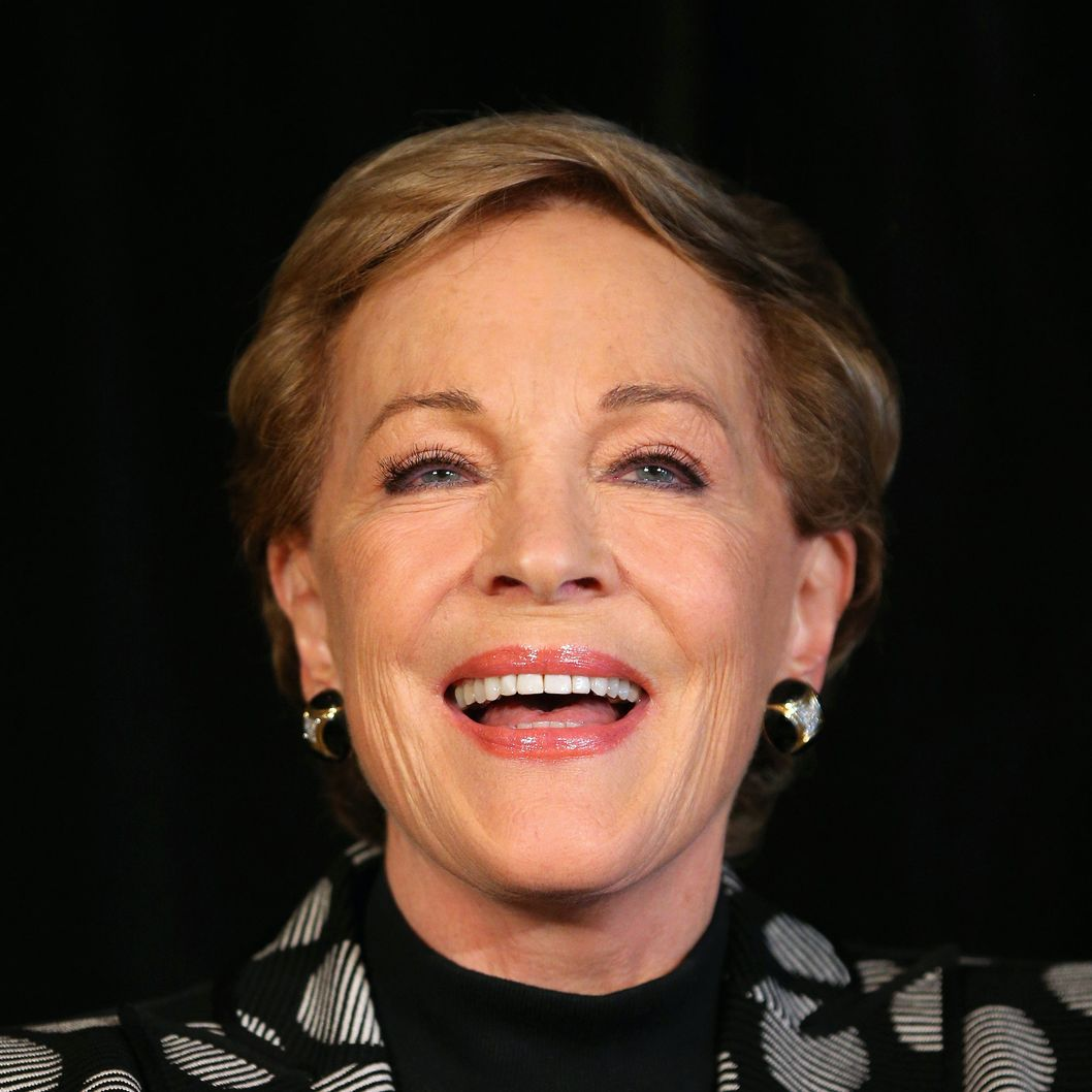 "Actress Julie Andrews speaks to media at a press conference ahead of her national tour of ""An Evening with Julie Andrews"" on May 16, 2013 in Sydney, Australia."