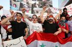 Syrian nationals in Jordan protest in solidarity.