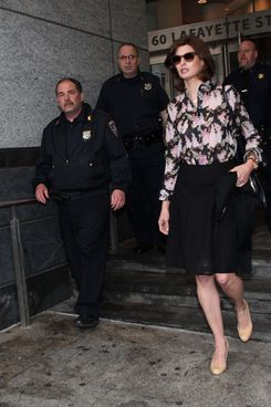 NEW YORK, NY - MAY 03:  Linda Evangelista appears at Manhattan Family Court