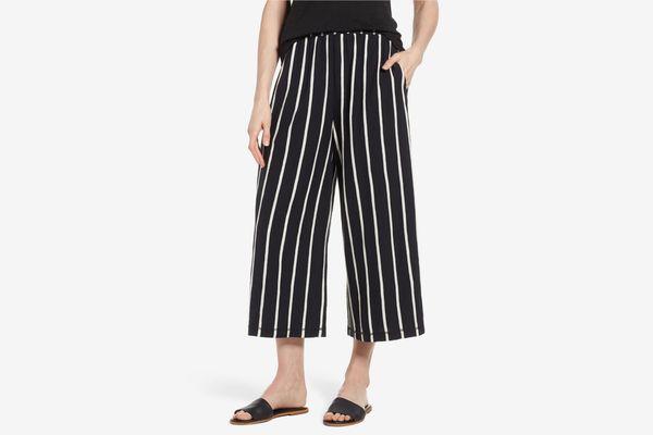 Eileen Fisher Stripe Organic Cotton Capri Pants