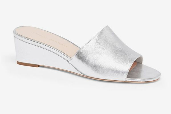 Loeffler Randall Tilly Leather Wedge Sandals