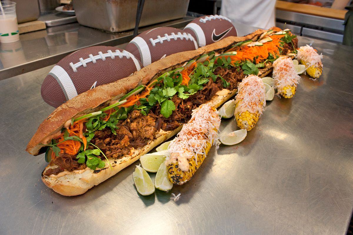 A big game requires a big sandwich.