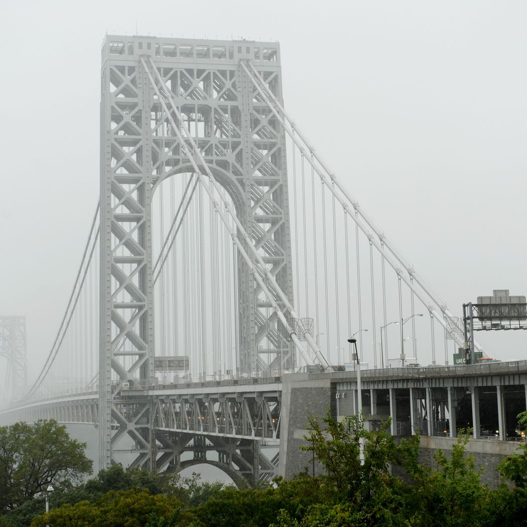 The George Washington Bridge October 1, 2010 from the New York City side of the span. Rutgers University freshman Tyler  Clementi, 18, jumped to his death off the bridge into the Hudson River September 22 after a live webcast of Clemnti having a gay encounter with a man was streamed online by two Rutger classmates. AFP PHOTO/Stan Honda (Photo credit should read STAN HONDA/AFP/Getty Images)