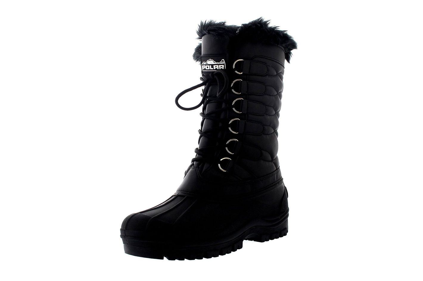Women's Nylon Cold Weather Outdoor Snow Duck Winter Rain Lace Boot