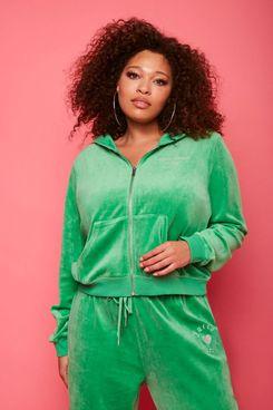 Plus Size Juicy Couture Velour Zip-Up Jacket