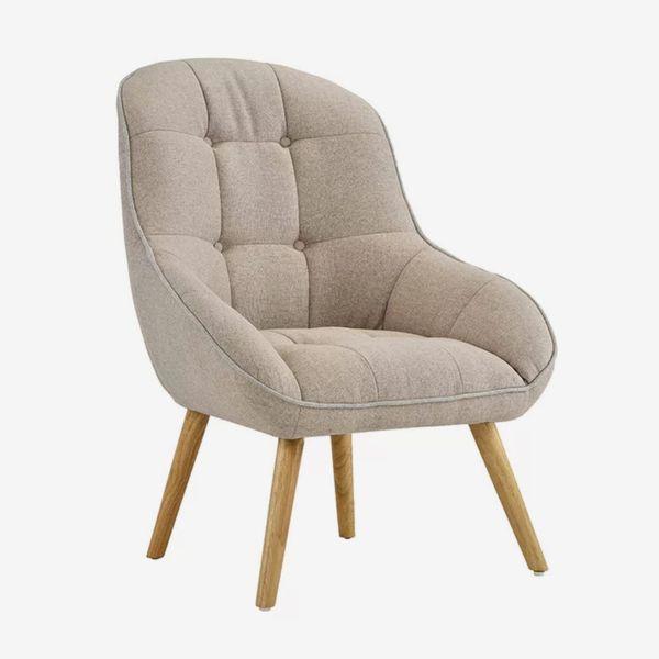 George Oliver Draeger Tufted Upholstered Armchair