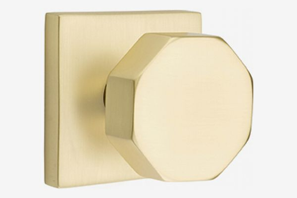 Emtek Octagon Knob with Square Rosette