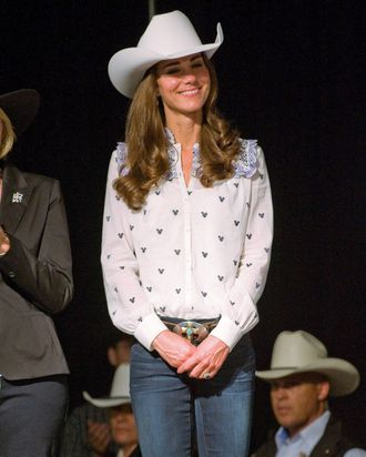 Kate Middleton at the rodeo in Canada.