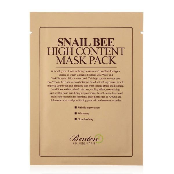 Benton Snail Bee High Content Sheet Mask, 10-Pack