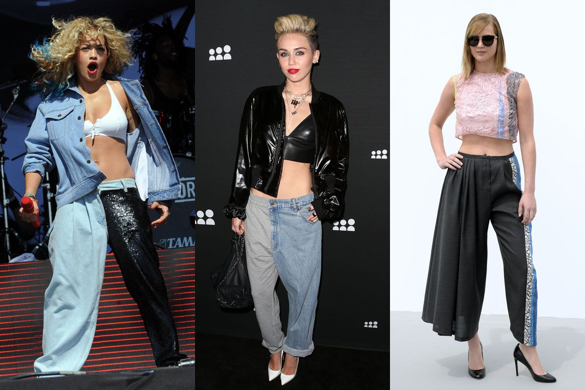 half-and-half fashion trend pants