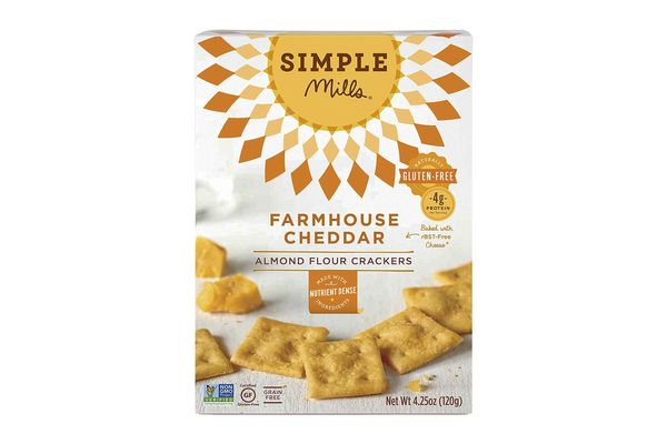 Simple Mills Farmhouse Cheddar Snack Crackers, Pack of 3