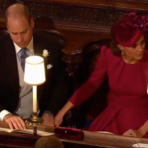 Prince William and Kate Middleton and also some PDA.