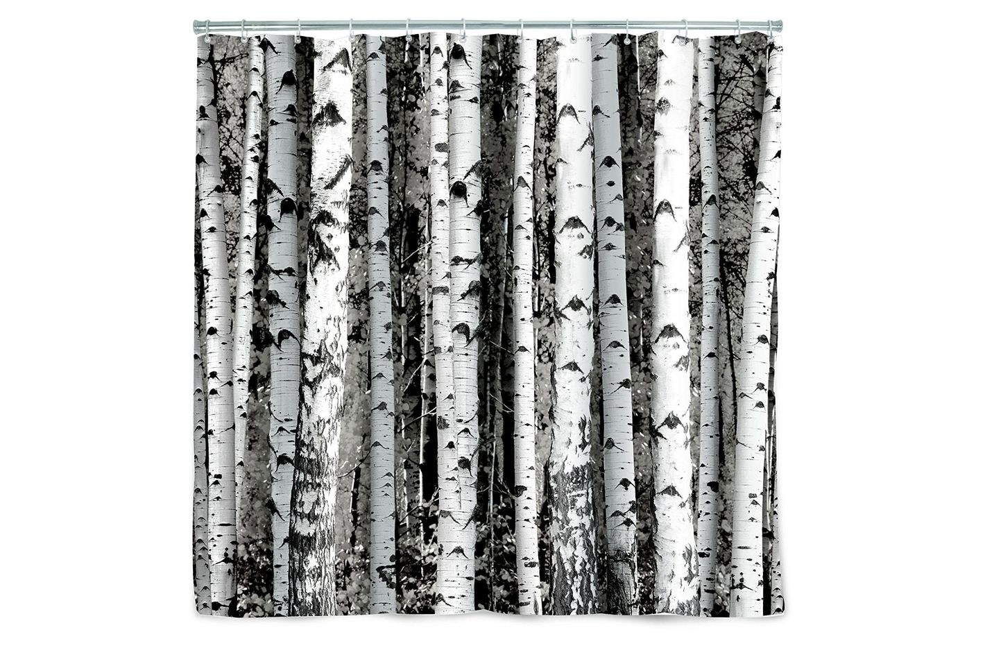 Kikkerland Birch Shower Curtain At Amazon