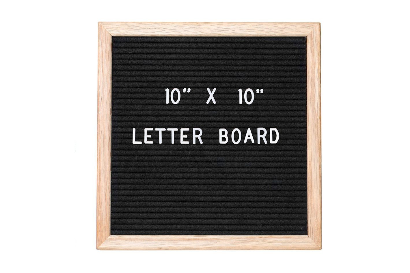 Ilyapa Felt Letter Board With 308 Letters, Numbers & Symbols — 10x10 Inch Changeable Wooden Message Board Sign