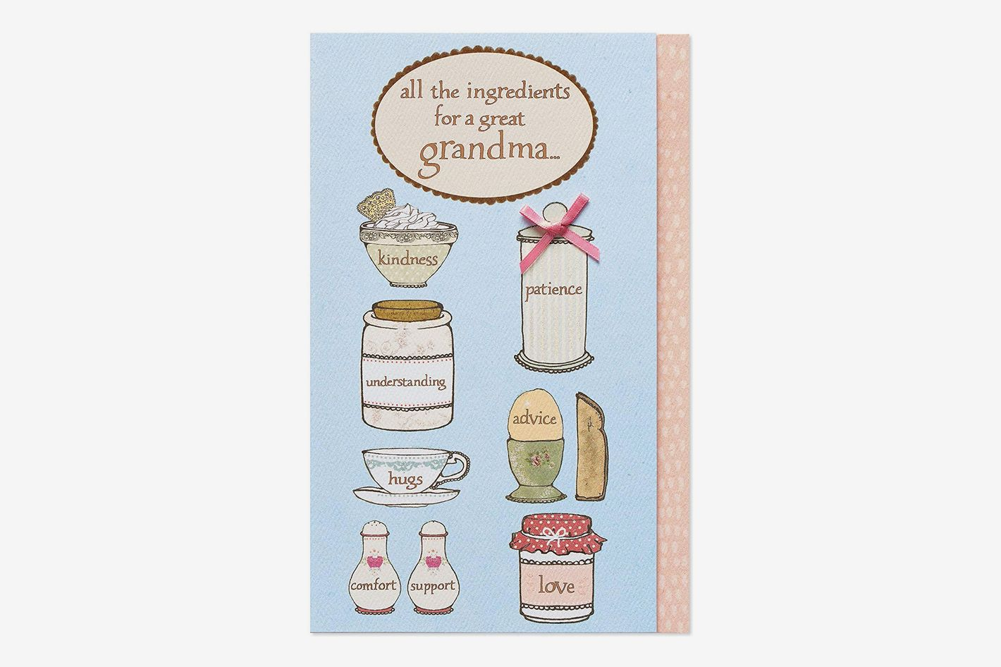 American Greetings Ingredients Mother's Day Greeting Card for Grandma with Glitter