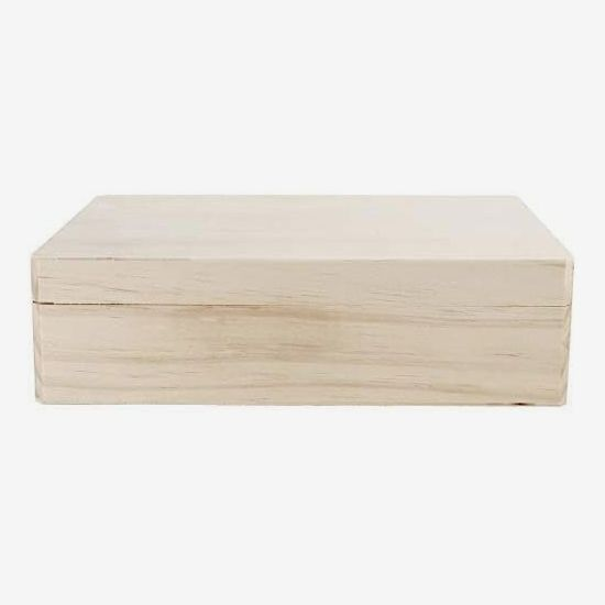 Darice Unfinished Wooden Box