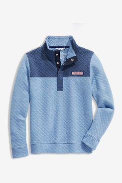 Vineyard Vines Boys' Quilted Snap Placket Shep Shirt Pullover
