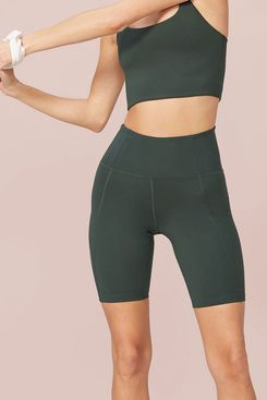 Girlfriend Collective Moss High-Rise Bike Short