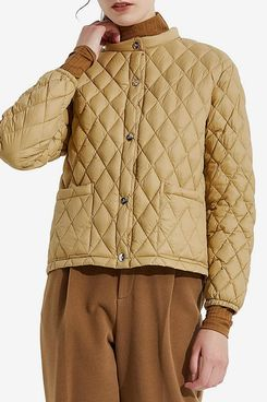Orolay Women's Light Cropped Puffer Jacket Packable Stand Collar Down Jacket