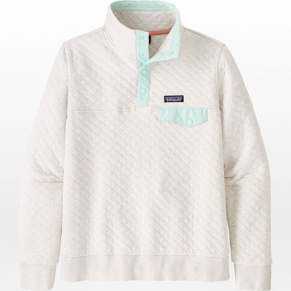 Patagonia Women's Organic-Cotton Quilted Snap-T Pullover Sweatshirt