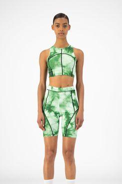 Daily Paper Green Tie Dye Rebike Shorts
