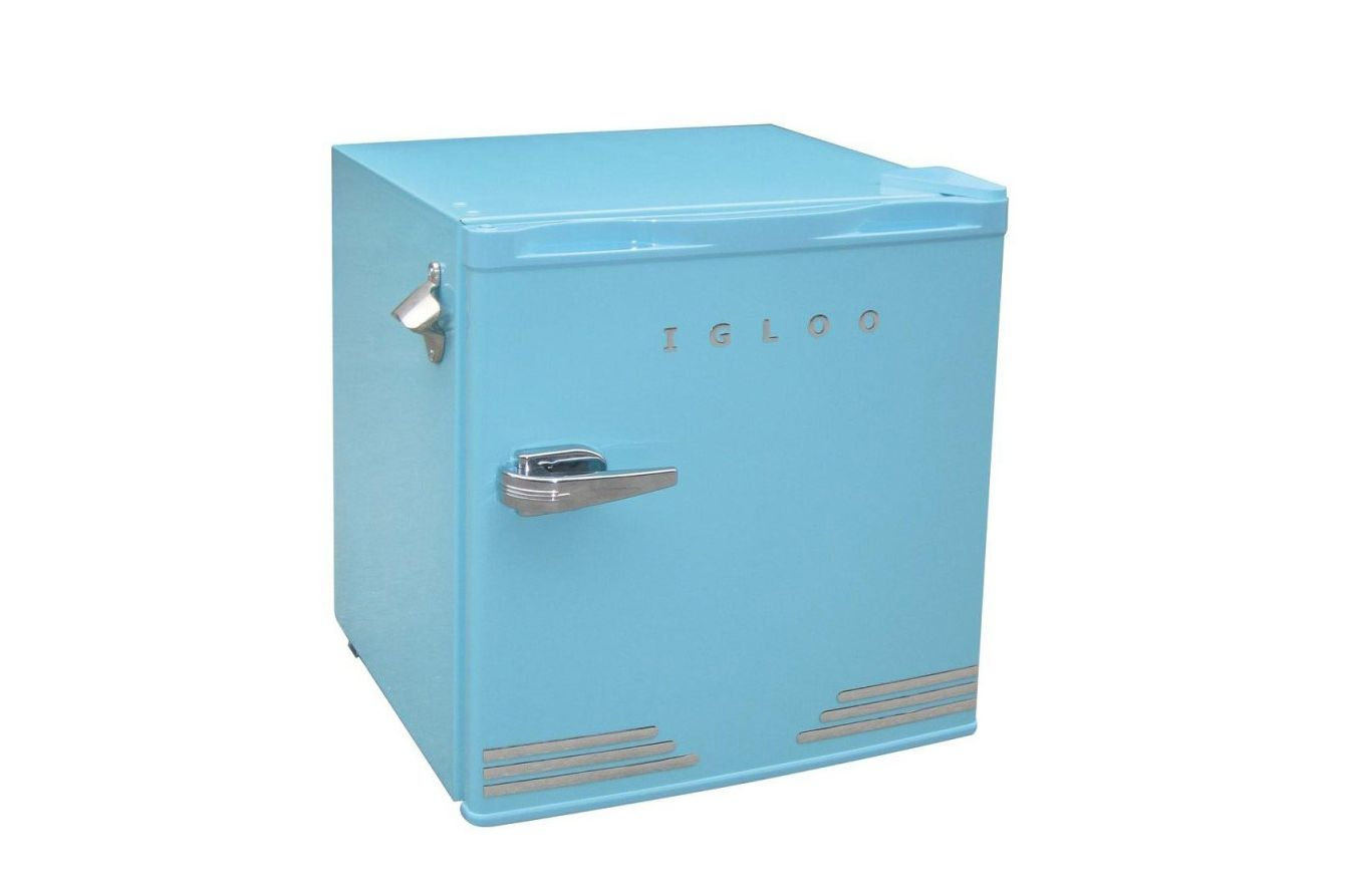 Igloo Retro Blue Compact Refrigerator With Bottle Opener