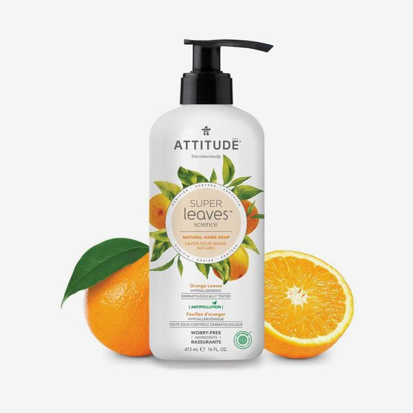 Attitude Super Leaves Hypoallergenic Hand Soap, Orange Leaves, 16 fl. oz.