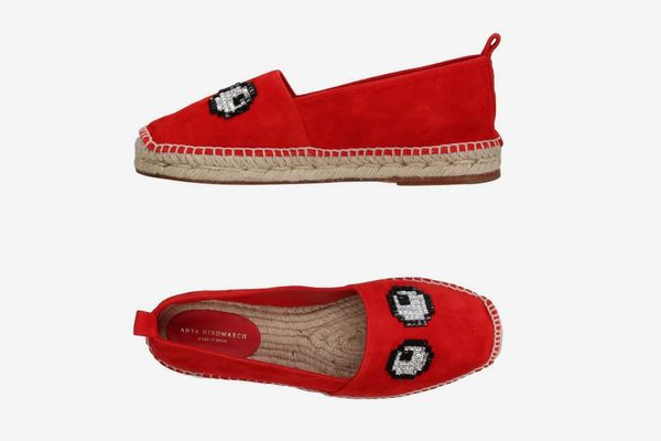 Anya Hindmarch Eye Embellished Espadrilles